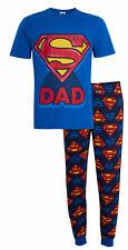 Mens Superman Pyjamas Super Dad PJs Set T-Shirt Lounge Pants Fathers day Gift