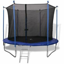 vidaXL Five Piece Trampoline Set 3.05 m Safety Net Pad Rain Cover Ladder Kids