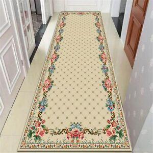 Style Stair Corridor Mat Flannel Non-slip Decor Bedside Rugs Doormat Area Rug
