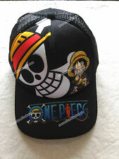 Baseball cap/hat with Anime ONE PIECE Monkey·D·Luffy&Skull mark size adjust