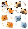 Cute Double-Sided Flip Reversible Unicorn Cat Plush Toys Funny Animals Doll Gift