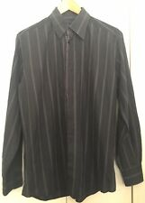 "Dolce&Gabbana Mens Striped Silk Blend Long Sleeve Shirt 16"" 41"""