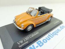 + VOLKSWAGEN VW Käfer 1303 Cabrio von Minichamps 1:43 Signalorange  430055142
