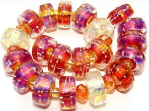 "Sistersbeads ""O-Infinity-Large"" Handmade Lampwork Beads"