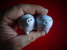 Petits Cochons en Porcelaine Poivre & Sel Poivrière Salière