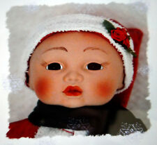 "Baby Santa Porcelain Doll / Christmas Decoration - 13"" (New)"