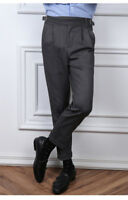 Ankle Length Business Gurkha Pants For Men Classic Chino Military Style Trousers