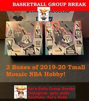 2019-20 GROUP BREAK #1 Panini Mosaic Tmall Basketball 2 hobby box 3 Random Team
