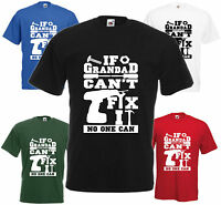 If Grandad Can't T-Shirt Fathers Day Gift Xmas Present Cool Birthday Tee Funny T