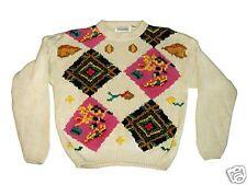 Liz & Co. Large Tan/Beige Sweater w/ Diamond Patterns
