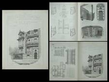 LE HAVRE, HOTEL 13 RUE JULES ANCEL - PLANCHES ARCHITECTURE 1905 - GARIN