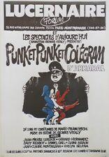 """""""PUNK ET PUNK ET COLEGRAM d'ARRABAL""""Affiche originale entoilée CABU 1978 45x64cm"""