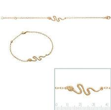 BRACELET Femme Serpent DESIGN BIJOUX Plaqué OR NEUF