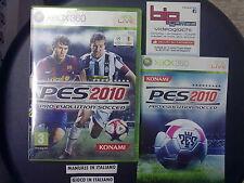 PES PRO EVOLUTION SOCCER 2010 XBOX 360 PAL ITA USATO FUNZIONANTE
