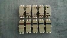 10pcs/pack LC - LC Duplex Fiber Optic Adapter Connector Coupler Multimode MM