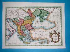 1764 RARE ORIGINAL MAP SERBIA ROMANIA BULGARIA MOLDOVA UKRAINE CROATIA GREECE