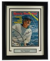 Ted Turner Signed Framed 8x10 Sports Illustrated Cover BAS
