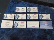 2001-2010 United States Mint Proof Sets w/ Boxes & COAs – Nice!
