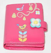 Geldbörse 9x11cm groß Motiv: Vogel pink