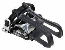 Wellgo LU-964 Platform Pedal with Toe Clip and Strap Black 9/16""