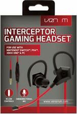 Venom Interceptor In-Ear Gaming Stereo Headset PS4 Xbox One Switch Mobile
