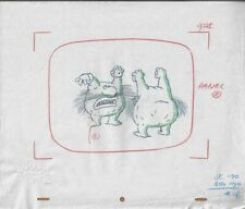 MONSTERS Original Production Cel Cell Drawing Nicktoons Seal 90s Animation Art