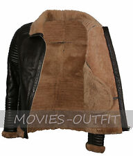 Mens B3 Bomber Aviator Real Sheep Fur Winters Warm Brown Leather Jacket SALE