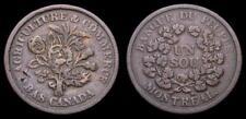 1837 Lower Canada Token Banque du People Montreal Un Sou LC-5A1 BR-715 VF