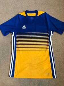 Blue and yellow adidas soccer jersey size XS