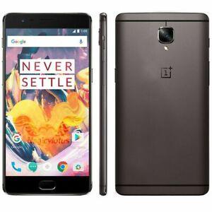 OnePlus 3T (Dual SIM) - Grey - 64GB - 4G LTE (Unlocked) Smartphone