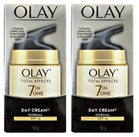 Olay Total Effects 7 in One, Anti Aging Day Cream Normal SPF 15, 1.7 oz (2 Pack)