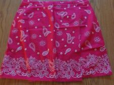 Women's Red Paisley Cotton Skirt Wrap Size 11 (Austin Harris)