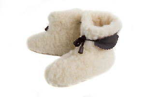 Very Warm Gorgeous Children Moccasin Style Slippers with Thick Sheepskin FOS304