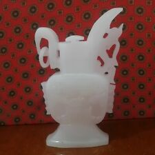 Chinese 100% Natural  White  Jade Vase Hand-carved Beasts Exquisite Vase