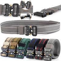 "1.5"" Wide Tactical Belt Mens Heavy Duty Nylon Web Belt with Quick Release Buckle"