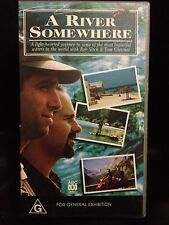 A RIVER SOMEWHERE ~ ROB SITCH & TOM GLEISNER ~ 2 x AS NEW VHS VIDEOS ~ FISHING