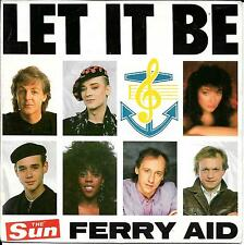 "45 TOURS / 7"" SINGLE--COLLECTIF FERRY AID--LET IT BE--1987"
