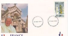 ENVELOPPE VISITE DU PAPE JEAN PAUL II / FRANCE / TOURS / 1996