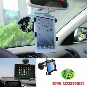 """360° Rotation Windscreen Car Suction Mount Holder for 6"""" To 11"""" Tablets & iPads"""