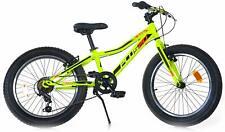 "Bicicletta Fat-Bike Ragazzo 20"" 6V Aurelia MTB Plus Gialla"