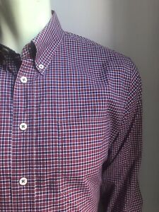 Billy Reid Shirt, Yorkville Plaid, Medium, Standard Fit, Exc Condition