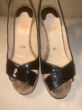 christian louboutin 37.5 Wedge Shoes Cork *read Description