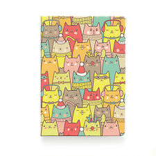 Passport Holder WINTER CATS, vinyl cover Document ID Travel case protector skin