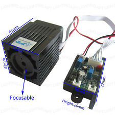 High Quality 12V 300mW 532nm green laser module + Focusable TTL continuous work~