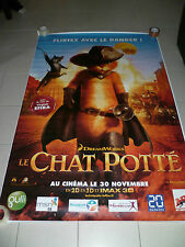 AFFICHE CHAT POTTE PUSS IN BOOTS  Dreamworks 4x6 ft Bus Shelter Poster 2011