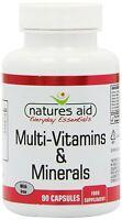 Natures Aid Multi-Vitamins & Minerals (with Iron) 90 Caps