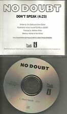 Gwen Stefani NO DOUBT Don't Speak RARE 1996 USA PROMO DJ CD Single INT5p 6043