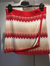 NEW WITH TAGS MISSONI FOR TARGET RED WAVE SKIRT WITH FRONT OVERLAY SIZE M