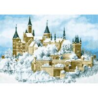 Counted Cross Stitch Kit Castle in the clouds DIY Embroidery