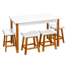 Unbranded Dining Tables Sets with Flat Pack and 5 Pieces